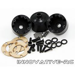 3x Thunder Tiger Differential Case MT4 G3 Black