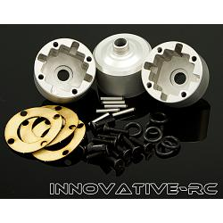 3x Thunder Tiger Differential Case MT4 G3 Silver